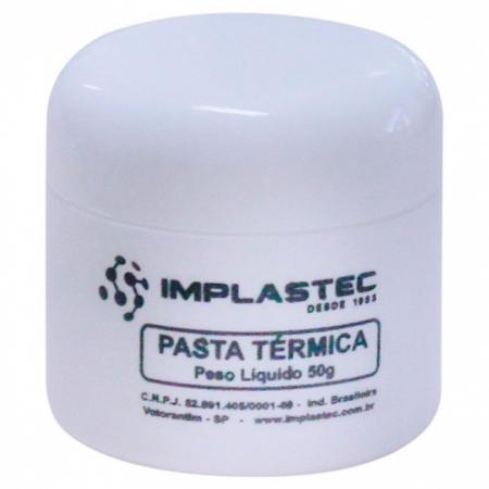 Pasta Termica Implastec a Base de Silicone Pote 50G