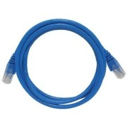 Patch CORD UTP CAT6 26AWG Padrao 568B 1.5M AZUL