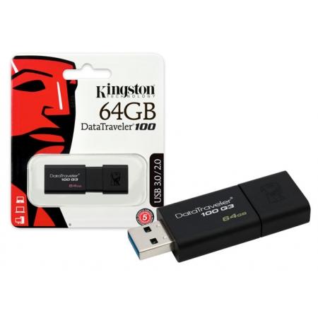 Pen Drive USB 3.0 Kingston DT100G3/64GB Datatraveler 100 64GB Generation 3