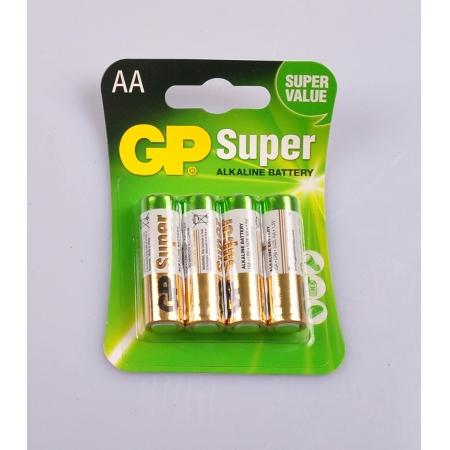 Pilha Super Alkaline GP AA 1.5V Blister com 4