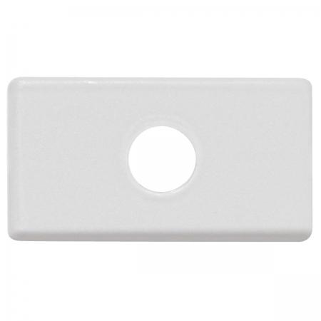 Placa com 1 Furo 9,5 MM Tablet Branco