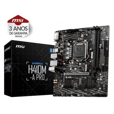 Placa M??E Desktop LGA 1200 INTEL Placa M??E H410M-A PRO MATX DDR4 2933MHZ M.2 HDMI USB 3.2