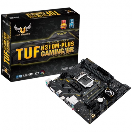 Placa Mae ASUS Micro ATX (1151) - DDR4 - TUF H310M-PLUS GAMING/BR