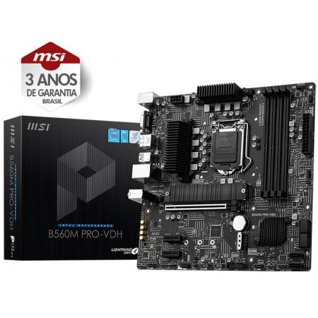 Placa Mae Desktop LGA 1200 INTEL 911-7D18-014 B560M PRO-VDH MATX DDR45066MHZ OC DUALM.2 HDMI USB 3.2