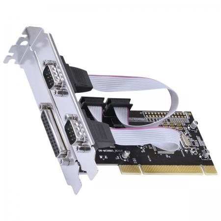 Placa Serial com 2 Saidas RS232 RS485 RS422 + 1 Saida Paralela IEEE1284 PCI X1 - P2IE1PR-PCI