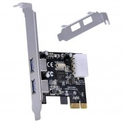 Placa USB com 2 USB 3.0 PCI EXPRESS PCI-E X1 com LOW Profile Incluso - P2U30-LP