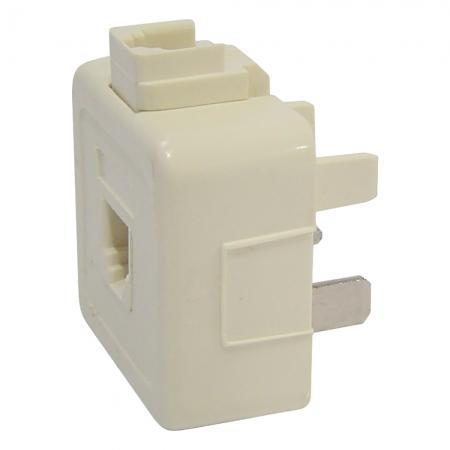 Plug Adaptador FONE/FAX DUPLOC/JACK Amer.+padrao JP-13MARFIM