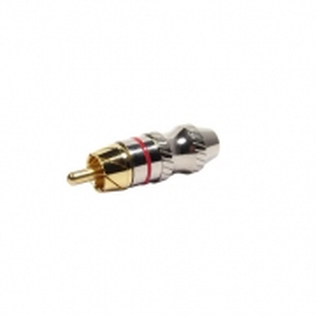 Plug RCA Metal com ANEL Vermelho PGRC0025 STORM - PCT / 10
