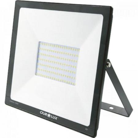 Projetor LED 100W Bivolt SLIM Ourolux