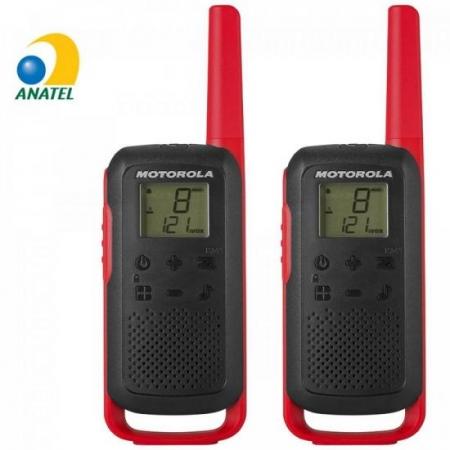 Radio Comunicador Talkabout 32KM T210BR VERMELHO/PRETO Motorola - PAR / 2