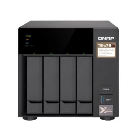 Servidor de Dados NAS AMD QUAD-CORE 2.1GHZ - 4GB - 4 Baias sem Disco - TS-473-4G-US