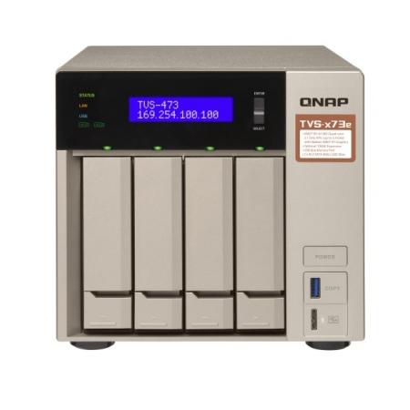 Servidor NAS TVS-473E-4G-US - QNAP AMD RX-421BD 2.1~3.4 GHZ 4GB DDR4 RAM