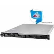 Sistema de Backup e Video Vigilancia NAS Asustor AS6204RD INTEL Quad Core J3160 1,6GHZ 4GB DDR3 RACK 1U 4 Baias