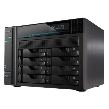 Sistema de Backup NAS Asustor AS6508T INTEL ATOM C3538 2,1GHZ 8GB DDR4 Torre 8 Baias HOT-SWAP