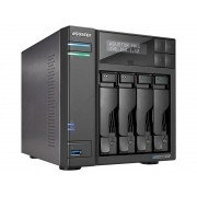 Sistema de Backup NAS Asustor AS6604T INTEL Quad Core J4125 2GHZ 4GB DDR4 Torre 04 Baias