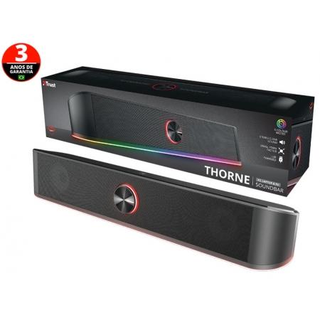 Soundbar para TV e PC Soundbar 24007 GXT-619 Thorne RGB LED Stereo para PC 12W