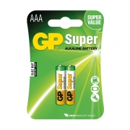 Super Alkaline GP AAA 1.5V Blister 2 Unidades