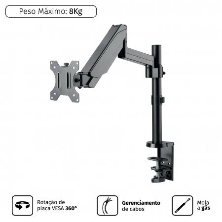 Suporte para Monitor 17 a 32 Vesa 100X100 PLMSM01D