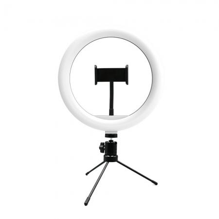 Suporte Tipo RING LIGHT Livestream 10 POL. com Tripe Ajustavel USB AC370