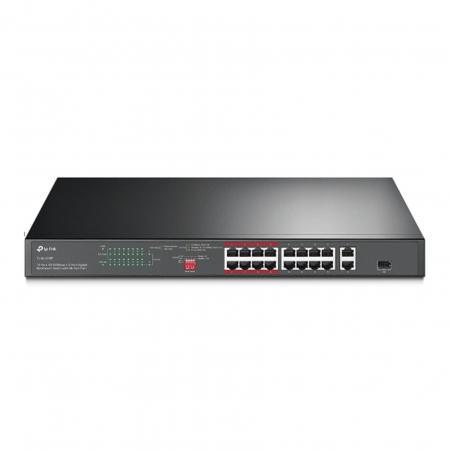 Switch Nao Gerenciavel C/ 16P 10/100MBPS Poe+ e 2P Gigabit TL-SL1218P SMB