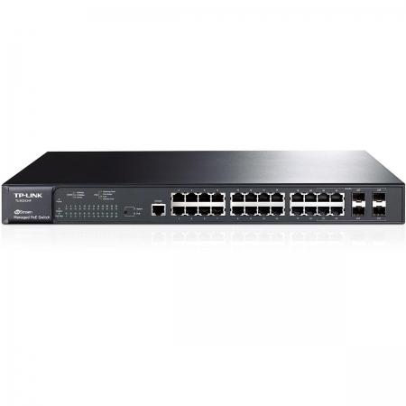 Switch TP-LINK 24 Portas TL-SG3424P Poe 10/100/1000MBPS + 4 Portas SFP Gerenciavel L2 - TPL0485