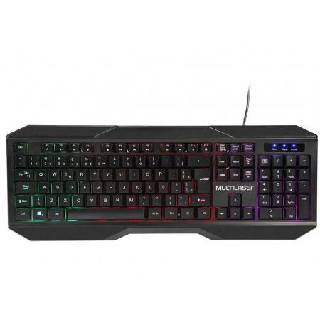 Teclado e Mouse Gamer Multilaser 2400DPI LED - TC239