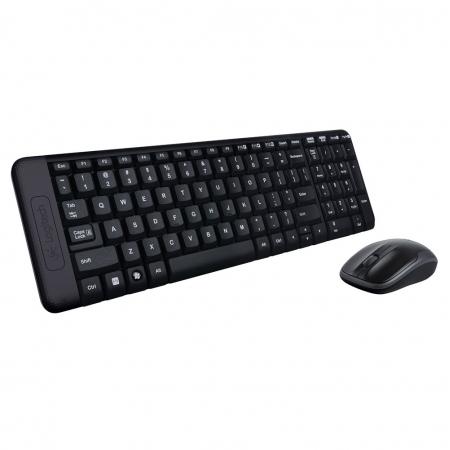 Teclado e Mouse Wireless Logitech MK220 USB Preto sem Fio (0000002220710)