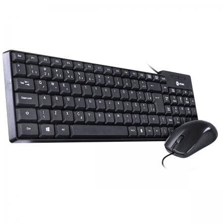 Teclado + Mouse Dynamic ABNT2 1000 DPI USB 1.8 Metros Preto - CD100