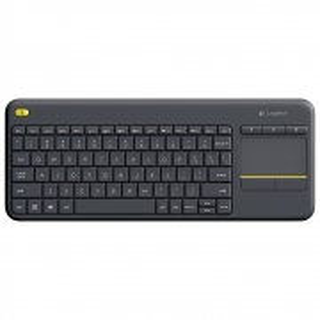 Teclado sem Fio com Touchpad Logitech K400 PLUS Cinza