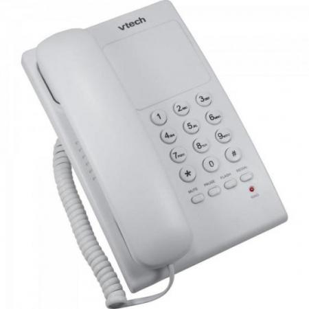 Telefone Digital de Mesa com Fio VTC105W Branco VTECH
