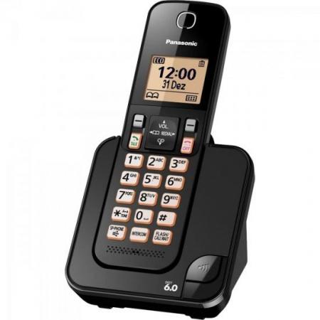 Telefone sem Fio com ID KX-TGC350LBB Preto Panasonic