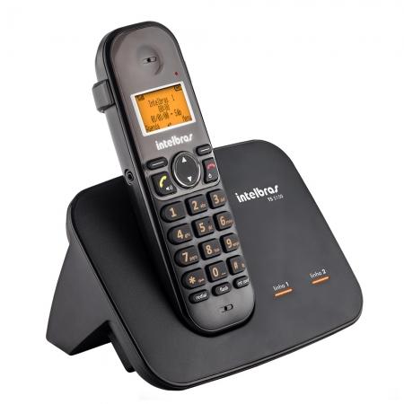 Telefone sem Fio Digital Intelbras TS5150 com Entrada para 2 Linhas Preto