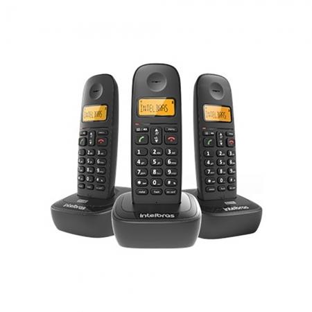 Telefone sem Fio Intelbras TS-2513 ID Preto 4122513