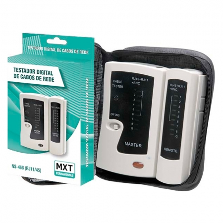 Testador Digital de Cabos de Rede MXT NS-468-B