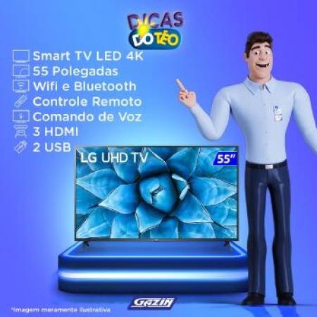 TV 55P LG LED SMART 4K Wifi Comando VOZ - 55UN7310PSC.AWZ