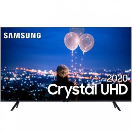 TV 55P Samsung CRYSTAL SMART 4K Comando VOZ - UN55TU8000GXZD