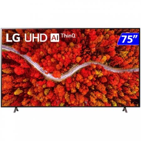 TV 75P LG LED SMART 4K Wifi Bluetooth HDR Comando - 75UP8050PSB.BWZ