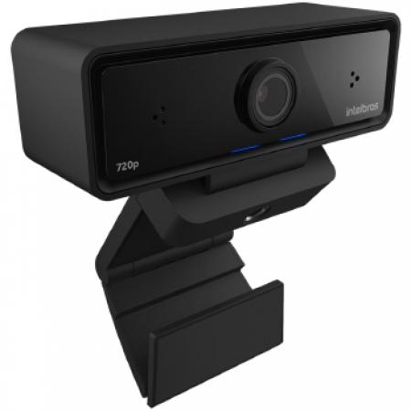 Webcam Intelbras Video Conferencia USB CAM-720P - 4290720 Preto Bivolt