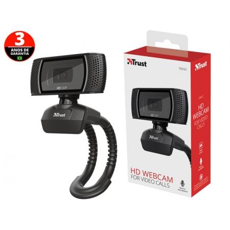 Webcam para Computador e Notebook WEB CAM 18679 Trino HD 720P com Microfone Emtutido USB