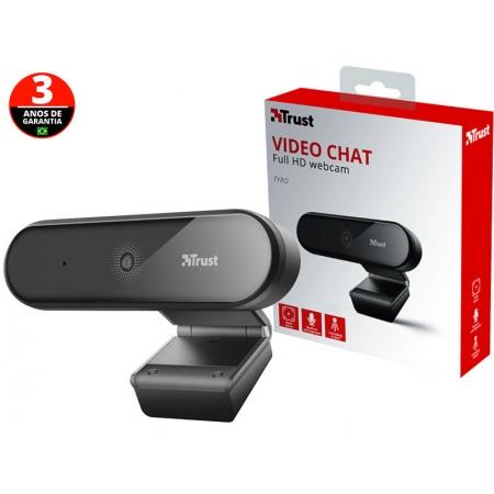 Webcam para Computador e Notebook WEB CAM 23637 TYRO FULL HD 1080P com Microfone Emtutido USB