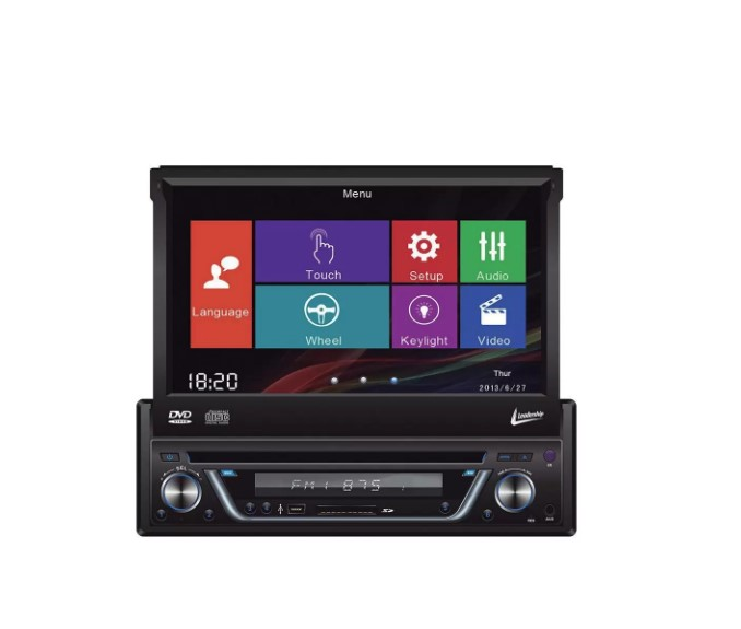 Auto Radio DVD Player Leadership Titanium 5975 4 X 50W Tela Retratil 7