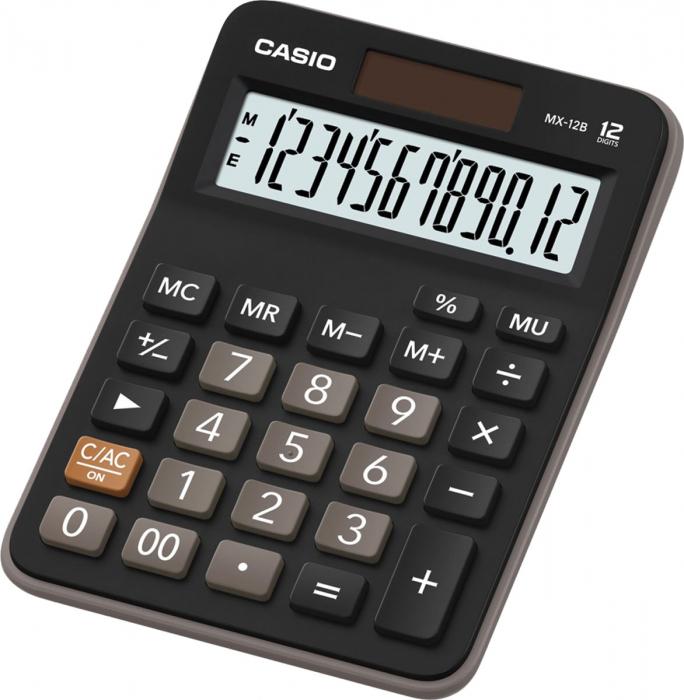 Calculadora de Mesa MX-12B-S4-DC Preta