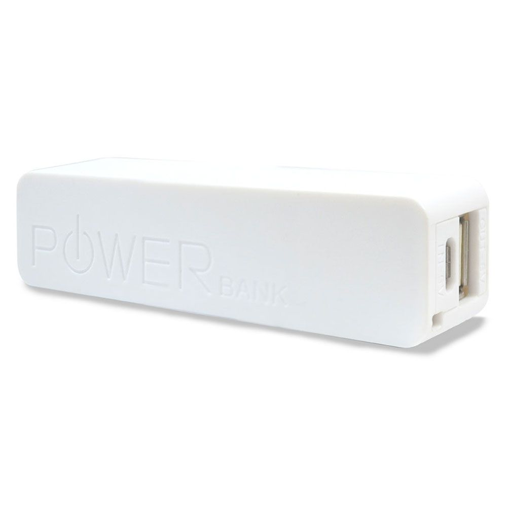 Carregador Portatil Power BANK Hardline AS-001 Branco 2200 MAH