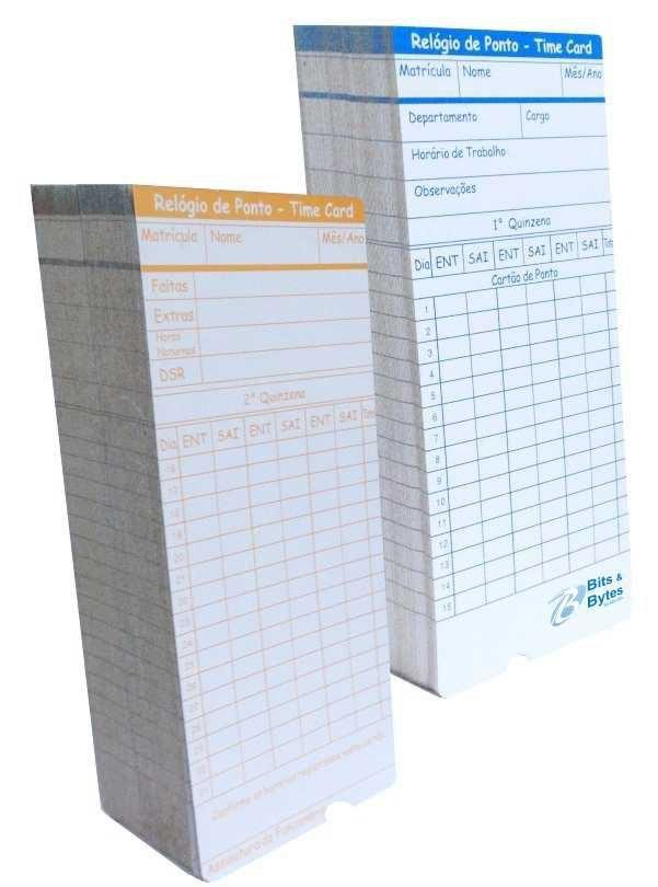 Cartão de Ponto para Relógio Cartográfico (500 Unidade)
