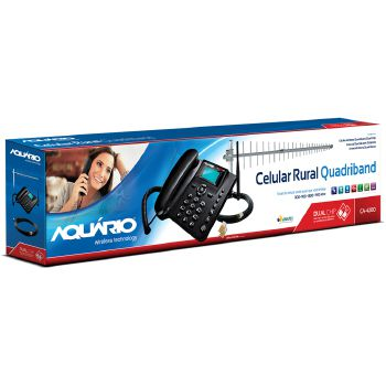Celular Rural Aquario CA-4200 Dual CHIP Quad BAND com KIT - CA-4201-4200 Preto Quadriband