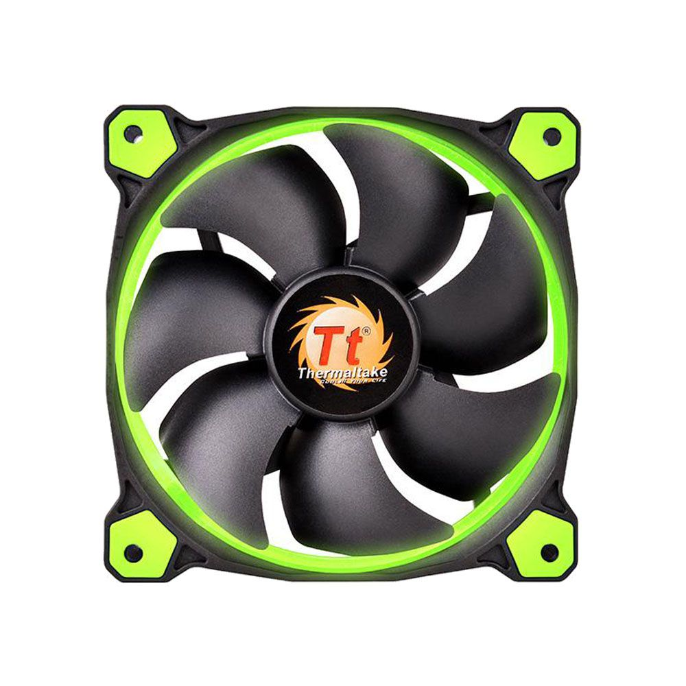 Fan TT Riing 12 LED Radiator FAN Green 3 PACK CL-F055-PL12GR-A