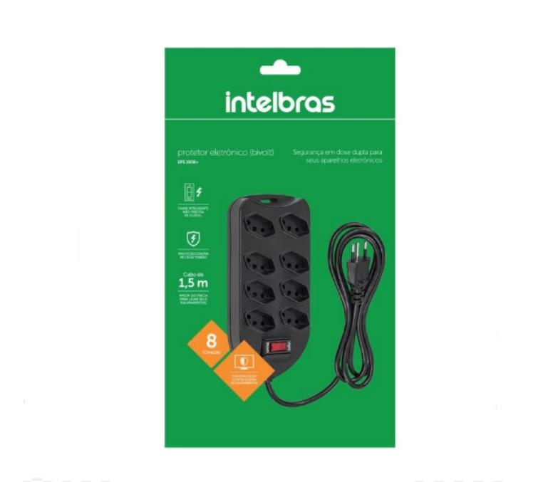 Filtro de Linha Intelbras com 8 Tomadas - EPE 1008+ PT - 4824004
