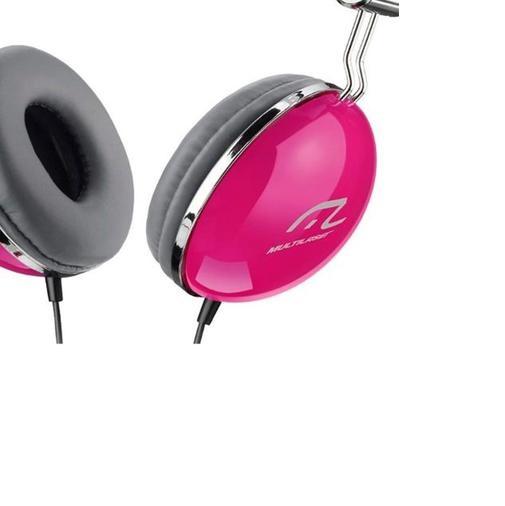 Fone de Ouvido Multilaser PH055 Vibe Headphone com Fio Rosa
