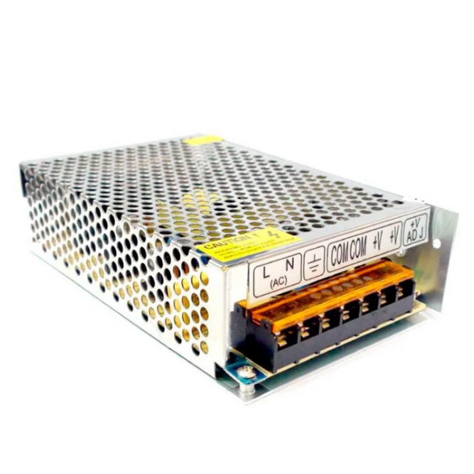 Fonte Colmeia EVUS 12V 10A 120W ACOMDC CFTV Bivolt PSU-10A GD