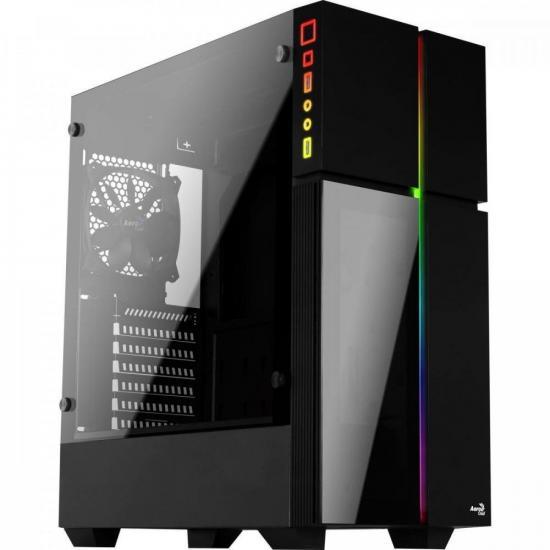 Gabinete Gamer MID Towe Playa RGB Vidro Temperado Aerocool